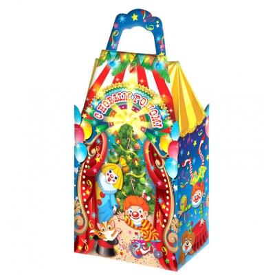 Новогодняя упаковка «Цирк» 1000 гр, картонная подарочная коробка