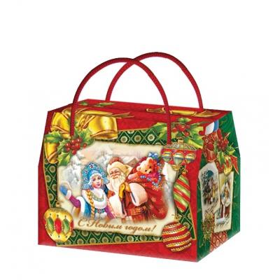 Новогодняя упаковка «Открытка» 800 гр, картонная подарочная коробка