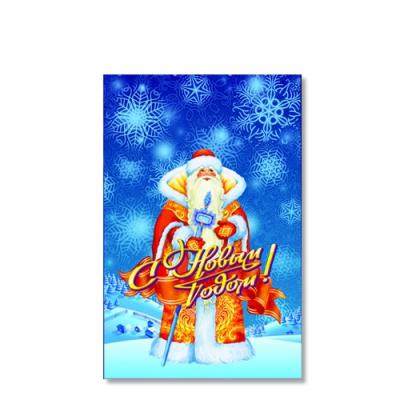 "Новогодний полипропиленовый пакет ""Дед Мороз"" 250х400 мм, 35 мкм, новогодняя упаковка"