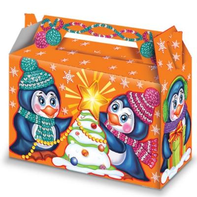 """Коробка подарочная """"Пингвины Неон"""""""