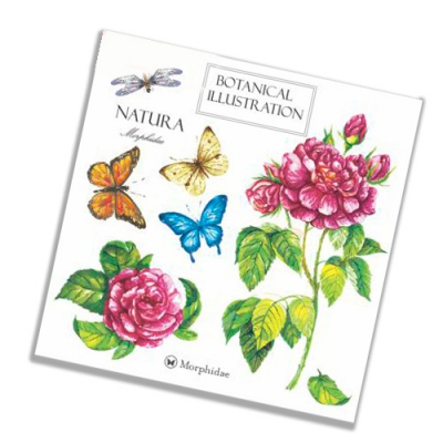 """Салфетки бумажные 2сл., 33x33, """"Бабочки и розы"""", 20шт."""