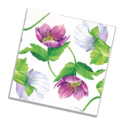 """Салфетки бумажные 3сл., 33x33, """"Декоративный цветок"""", 20шт."""