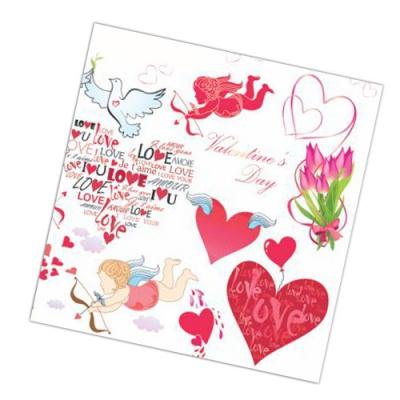 """Салфетки бумажные 2сл., 33x33, """"Любовное послание"""", 20шт."""