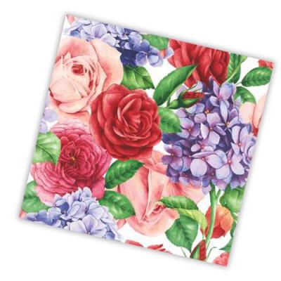 """Салфетки бумажные 3сл., 33x33, """"Прекрасные цветы"""", 20шт."""