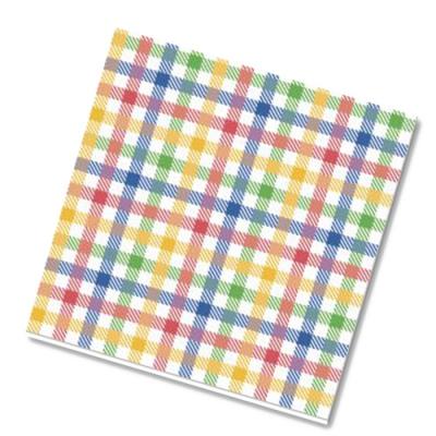 """Салфетки бумажные 2сл., 33x33, """"Цветная скатерть"""", 20шт."""