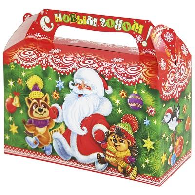 Новогодняя подарочная коробка «Хоровод 0.5» 500 гр, новогодняя упаковка