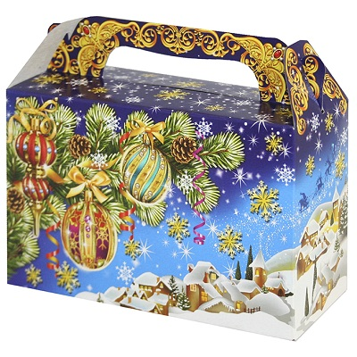 Новогодняя подарочная коробка «Зимушка» 500 гр, новогодняя упаковка