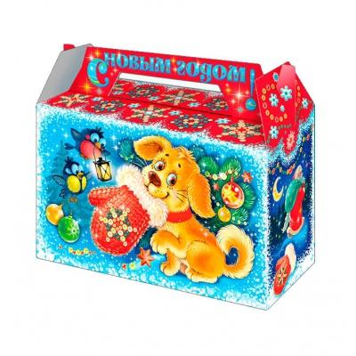 Новогодняя упаковка «Варежка» 500 гр, картонная подарочная коробка для конфет