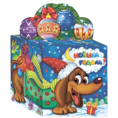 Новогодняя подарочная коробка «Кубик символ» 300 гр, новогодняя упаковка
