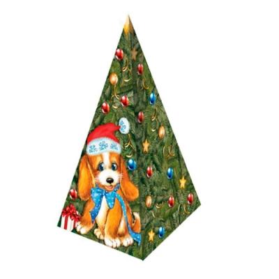 Коробка подарочная «Пирамидка-символ» 300 гр, новогодняя упаковка