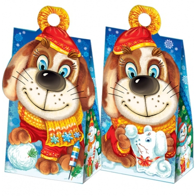 Новогодняя упаковка «Символ» 500 гр, картонная подарочная коробка для конфет