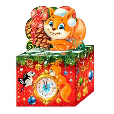 Новогодняя упаковка «Сказка NEW» 800 гр, картонная подарочная коробка для конфет