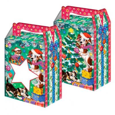 Новогодняя упаковка «Звезда символ» 1000 гр, картонная подарочная коробка для конфет