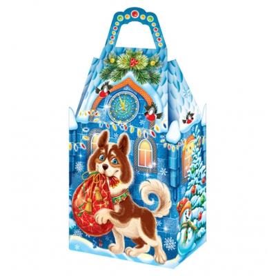 Новогодняя подарочная коробка «Замок Арчи» 1000 гр, новогодняя упаковка