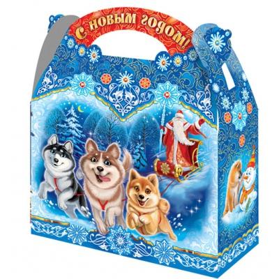 Новогодняя подарочная коробка «Хаски» 1500 гр, новогодняя упаковка