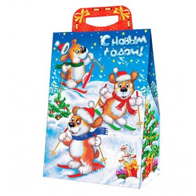 Новогодняя подарочная коробка «Горка» 2000 гр, новогодняя упаковка