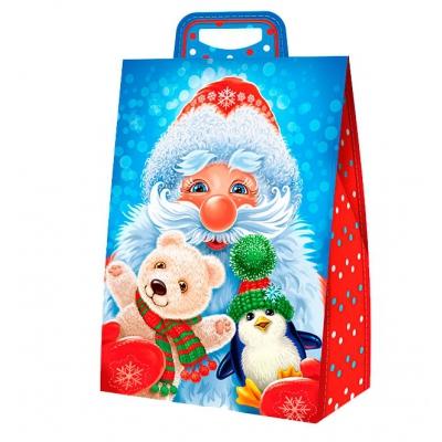 Новогодняя упаковка «Трио» 2000 гр, картонная подарочная коробка для детских подарков