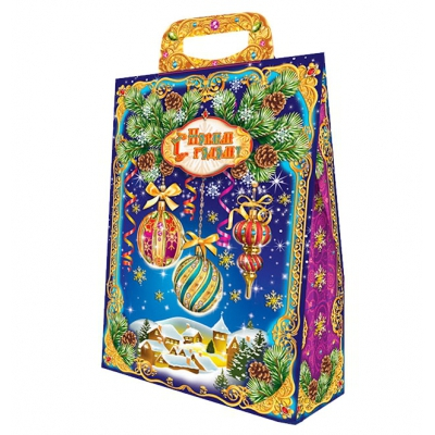 Коробка подарочная «Новогодний Этюд» 2000 гр, новогодняя упаковка для конфет