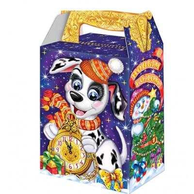 Новогодняя упаковка «Часики» 1000 гр, картонная подарочная коробка для конфет