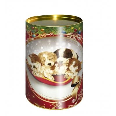 Подарочные картонные тубы «Малыши» 700 гр для новогодних подарков