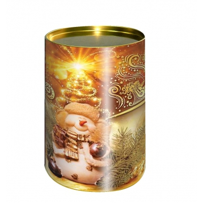 """Подарочные картонные тубы """"Золотая"""" 700 гр, новогодняя упаковка для подарков"""