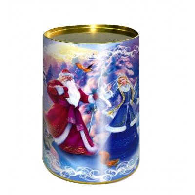 """Картонные тубы """"Лесная сказка"""" 700 гр, новогодняя упаковка для конфет, детских подарков"""