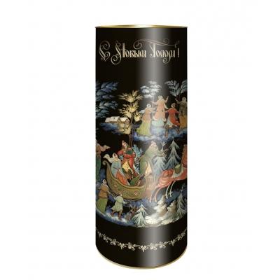 """Подарочные картонные тубы """"Палех"""" 1500 гр, новогодняя упаковка"""
