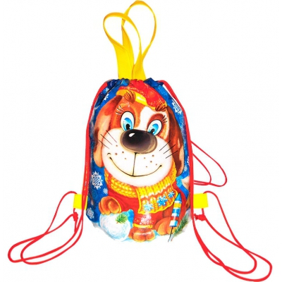 """Детский рюкзачок """"Филя"""", новогодняя упаковка для подарков"""