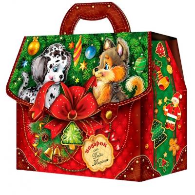 Новогодняя подарочная коробка «Портфельчик-парочка» 1800 гр, новогодняя упаковка