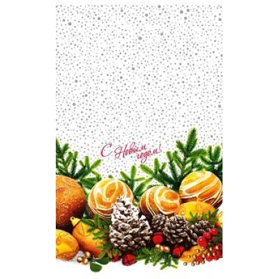 """Новогодний полипропиленовый пакет """"Снежный танец"""" 300х500 мм, 35 мкм, новогодняя упаковка"""