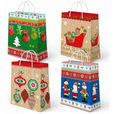 """Новогодний подарочный пакет """"Микс №3"""", L, бумажный, новогодняя упаковка"""