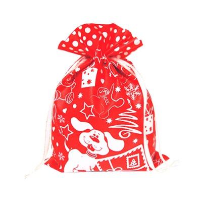 Подарочный мешок Тотошка красный для новогодних подарков