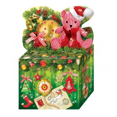 Новогодняя упаковка «Новогоднее Настроение» 800 гр, картонная подарочная коробка