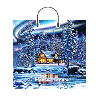 Пакет НГ Пейзаж 38х36, 90 мкм, новогодняя упаковка