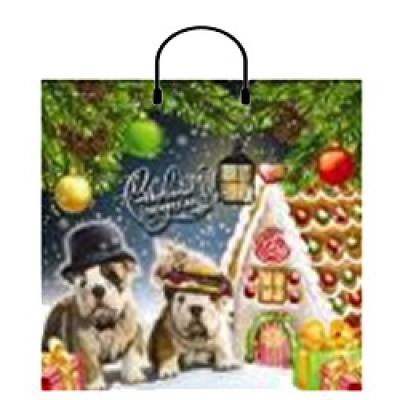 """Подарочный пакет НГ """"Новогоднее семейство"""" 36х35 см, 100 мкм, новогодняя упаковка"""
