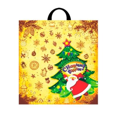 """Новогодний подарочный пакет """"Посылка"""" 40х42 см, 45 мкм, новогодняя упаковка"""