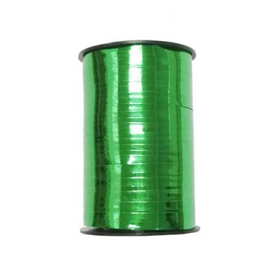 Лента подарочная металлизированная, зеленая 5мм/250м