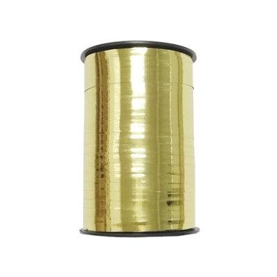 Лента подарочная металлизированная, золотая 5мм/250м