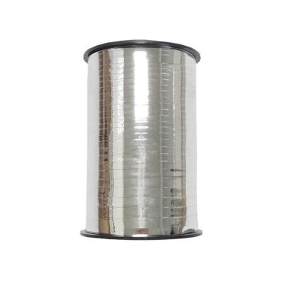 Лента подарочная металлизированная, серебро 5мм/250м