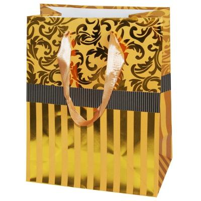 """Пакет подарочный """"Золото"""" тиснение, L"""