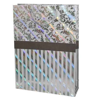 """Пакет подарочный """"Серебро"""" тиснение, XL"""