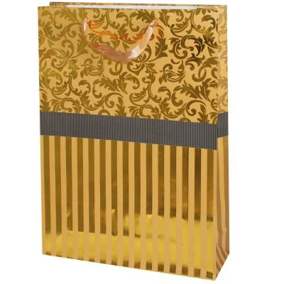 """Пакет подарочный """"Золото"""" тисн, XL"""