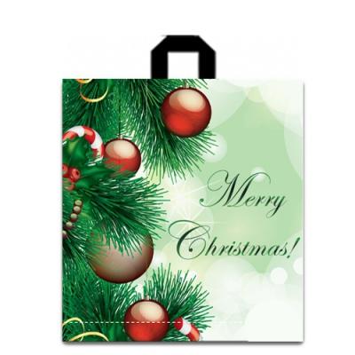Пакет новогодний Шары 40х43, 75 мкм