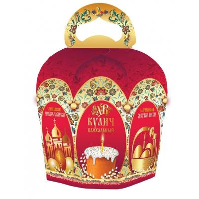"Коробка подарочная ""Золотая арка"" для кулича, пасхальная упаковка"