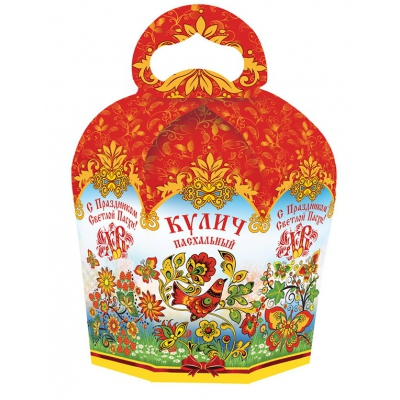 Коробка подарочная «Пасхальный орнамент» для кулича, пасхальная упаковка
