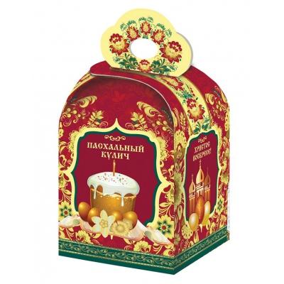Коробка подарочная «Пасхальная хохлома» для кулича, пасхальная упаковка