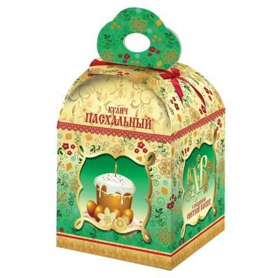 Коробка подарочная «Пасхальный бант» для кулича, пасхальная упаковка
