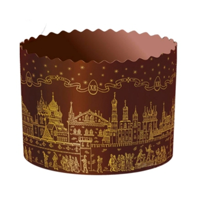 Бумажная форма для куличей ХРАМ Золото 70х60 мм, 100 гр