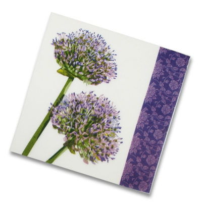"Салфетки бумажные 2сл., 33х33, ""Фиолетовый цветок"", 20шт."
