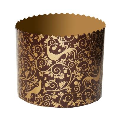 "Бумажные формы для куличей ""Райский сад"" 134х100 мм, 500-550 гр, пасхальные формы для выпечки"
